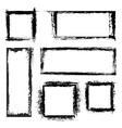 Grunge frames set vector image vector image