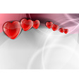 heart background wave vector image vector image