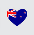 heart in colors of the new zealand flag vector image