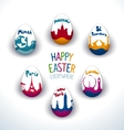 Holiday Easter everywhere set vector image
