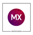 initial letter mx logo template design vector image vector image