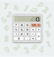 isolated calculator in flat style vector image vector image