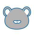 isolated cute mouse face vector image vector image
