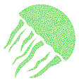 jellyfish mosaic of dots vector image vector image