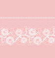 lacy horizontal seamless single-sided ribbon with vector image vector image