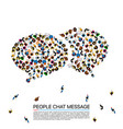 large group of people in the shape of chat bubbles vector image vector image