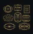 logo frame vintage business tag label banner vector image