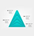 material diagram pyramid elements color vector image vector image