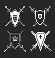 medieval shields set vector image