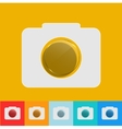 modern camera icon with circle glass set vector image vector image