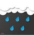 Modern flat design rainy weather with drop shadows vector image vector image