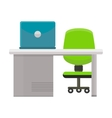 Modern Office Workplace vector image vector image