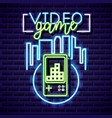 neon video games vector image vector image