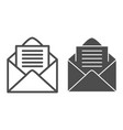 opened envelope line and glyph icon mail letter vector image vector image