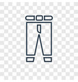 pants concept linear icon isolated on transparent vector image