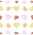 pattern of bubble hearts vector image vector image