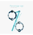 Percentage sign background vector image vector image