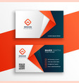 professional business card template design vector image vector image