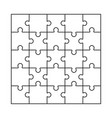 puzzle blank template vector image