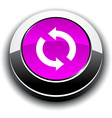 Refresh 3d round button vector image vector image