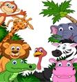 Safari animal cartoon background vector image vector image