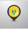saint vincent and grenadines map pin vector image vector image