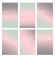 screen gradient set with abstract background vector image vector image