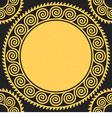 Seamless golden Greek ornament Meander vector image vector image