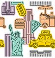 seamless pattern new york city symbol vector image