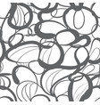 seamless pattern of monochrome geometric vector image vector image