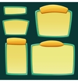 set cartoon empty boards vector image