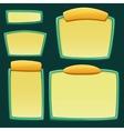 set cartoon empty boards vector image vector image