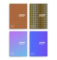 set of abstract cards with layers overlap vector image