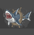 shark wild vector image
