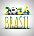 Soccer 2014 poster vector image vector image