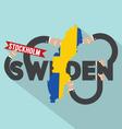 Sweden Typography Design vector image vector image