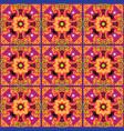 talavera tile vibrant mexican seamless pattern vector image vector image