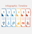 timeline infographic for six position vector image vector image