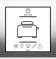 toaster oven linear icon vector image