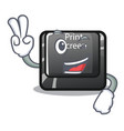 two finger button print screen in shape mascot vector image