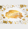 valentines day composition with romantic vector image vector image