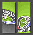vertical banners for soccer vector image vector image
