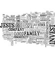 what would jesus invest in text word cloud concept vector image vector image