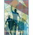 Winning runner mosaic vector image vector image