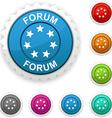 Forum award vector image