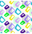 geometric vintage 50s seamless pattern vector image