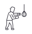 boxing sign line icon sign vector image