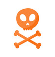 skull and crossbones flat icon vector image