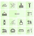 14 build icons vector image vector image