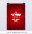 abstract background with christmas greeting text vector image vector image